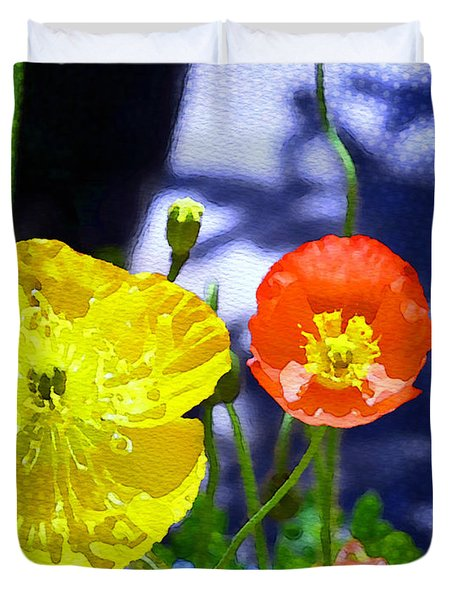 Poppy Series - Soaking Up Sunbeams Duvet Cover by Moon Stumpp