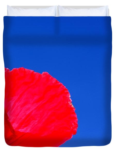 Poppy Sky Duvet Cover by Stephen Melia