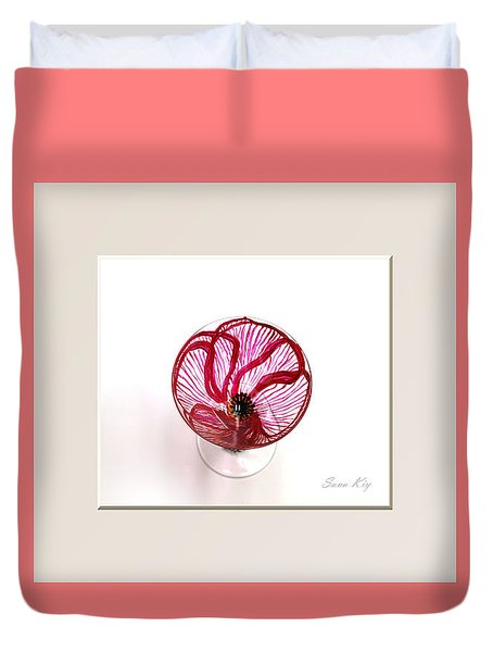 Poppy. Soul Inspirations Collection Duvet Cover by Oksana Semenchenko