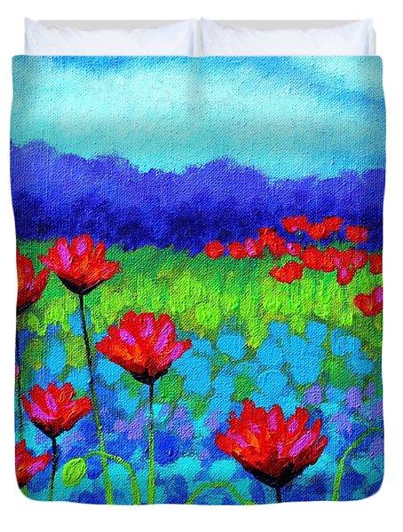 Poppy Study Duvet Cover