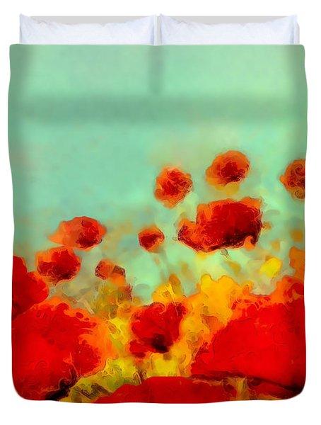Poppy Time Duvet Cover
