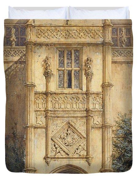 Porch At Montacute, 1842 Duvet Cover