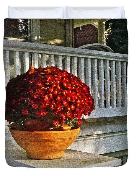 Porch Beauty Duvet Cover by Brian Wallace