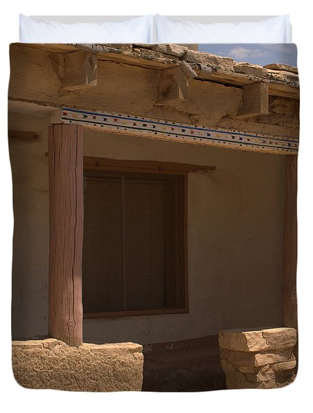 Porch Of Pueblo Home Duvet Cover