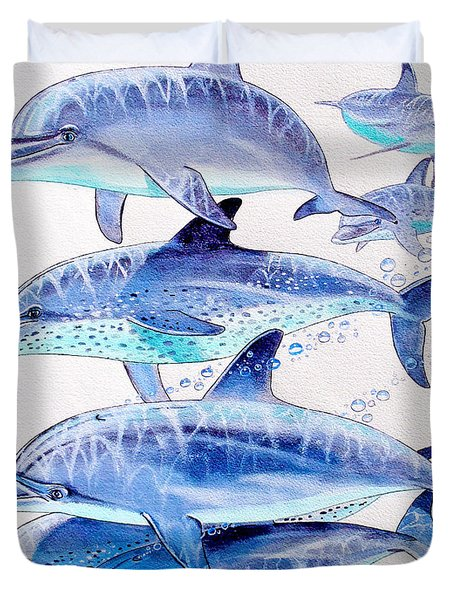 Porpoise Play Duvet Cover by Carey Chen