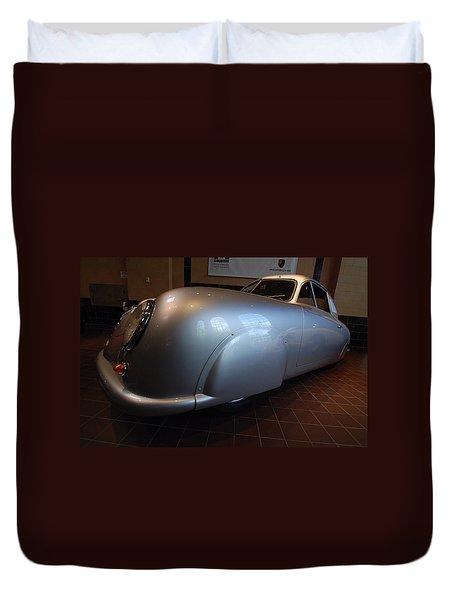 Duvet Cover featuring the photograph Porsche 1949 356 S L Gmund Coupe by John Schneider