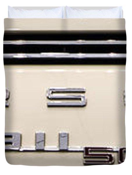 Porsche 50th Anniversary Rear Badge Duvet Cover