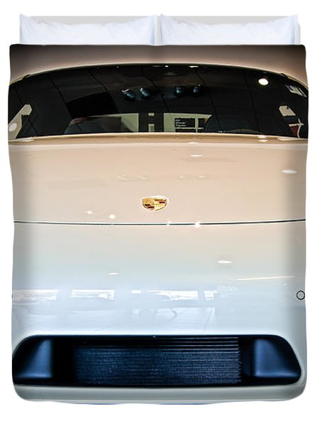 Porsche 911 50th Front With Led's Duvet Cover