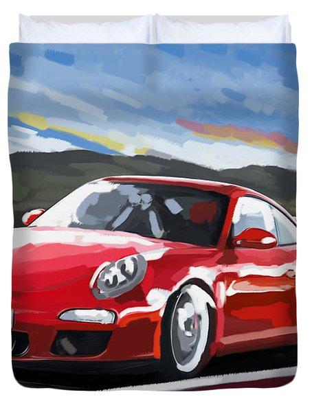 Porsche 911 Gt3 Impressionist Duvet Cover