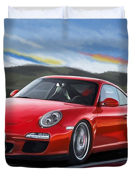 Porsche 911 Gt3 Duvet Cover