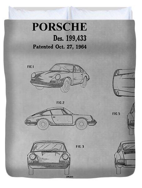 Porsche 911 Patent Duvet Cover