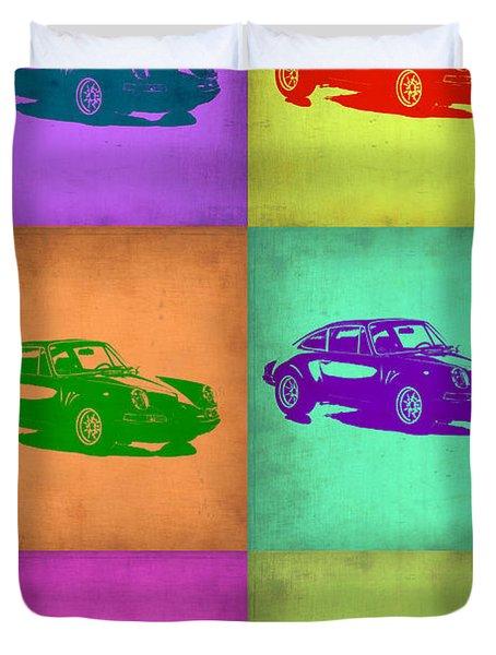 Porsche 911 Pop Art 2 Duvet Cover