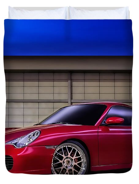Porsche 911 Twin Turbo Duvet Cover