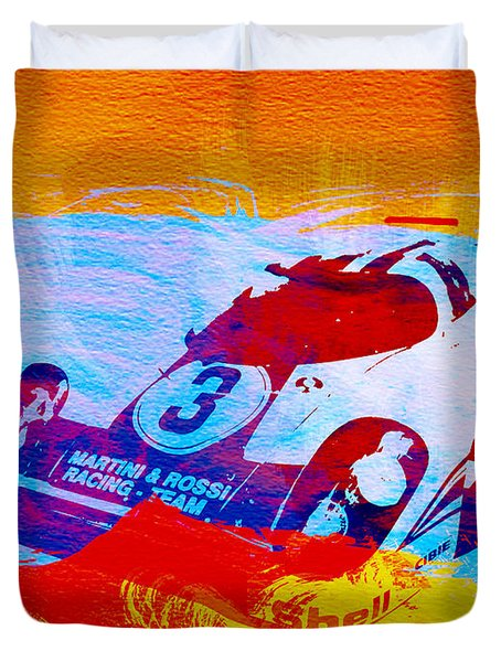 Porsche 917 Martini And Rossi Duvet Cover