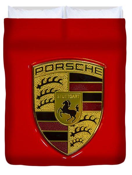 Porsche Emblem Red Hood Duvet Cover
