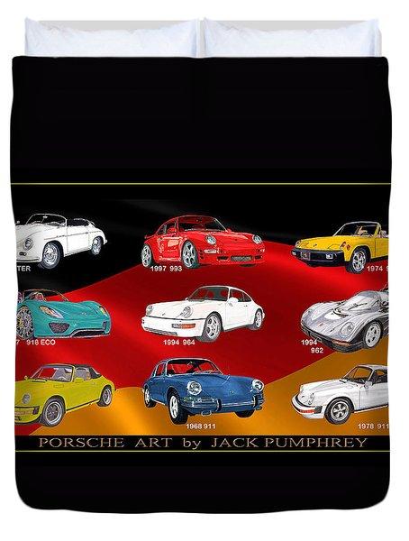 Porsche Times Nine Duvet Cover