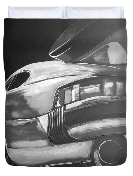 Duvet Cover featuring the painting Porsche Turbo by Richard Le Page