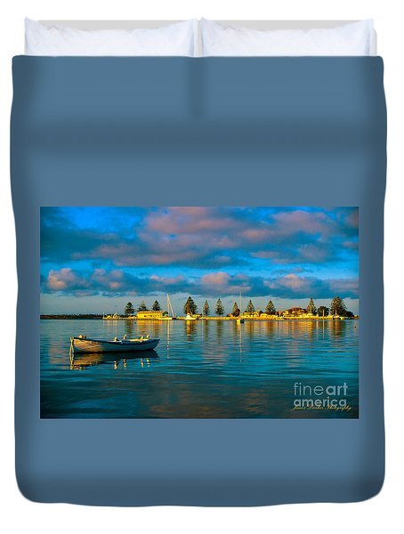 Port Albert Bay Duvet Cover by James  Dierker