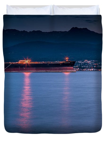 Port Angeles Evening Duvet Cover