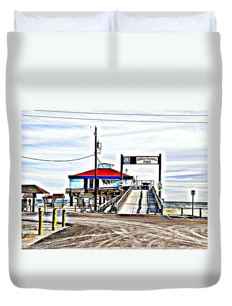 Duvet Cover featuring the photograph Port Aransas Gulf Side by Antonia Citrino