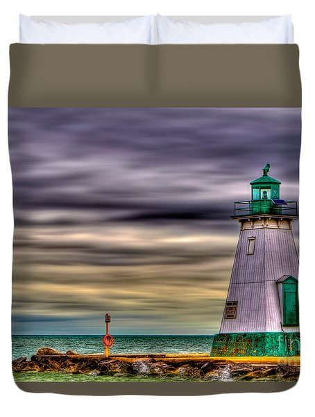 Port Dalhousie Lighthouse Duvet Cover by Jerry Fornarotto