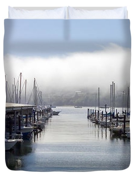 Duvet Cover featuring the photograph Port Kingston Marina by Greg Reed