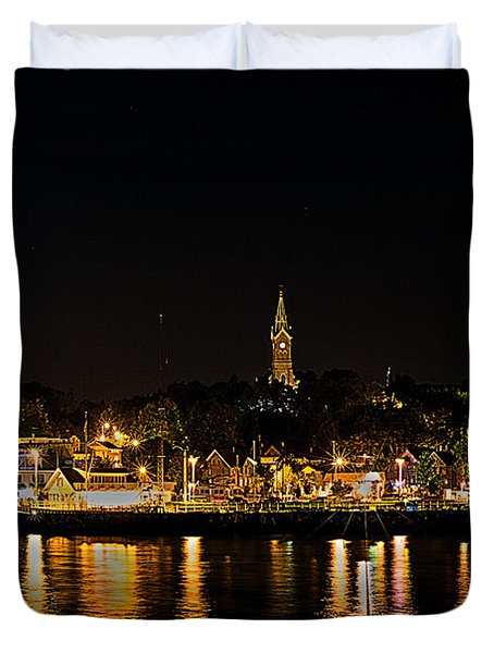 Port Lights Duvet Cover