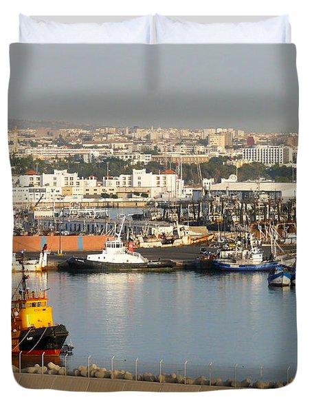 Port Of Agadir Morocco 1 Duvet Cover