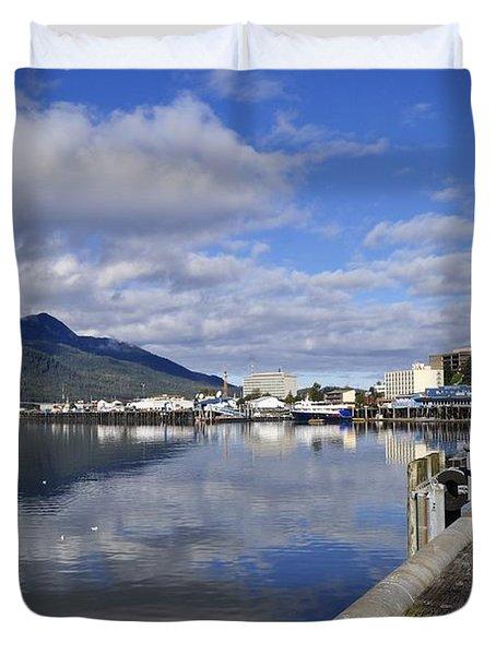 Port Of Juneau Duvet Cover by Cathy Mahnke