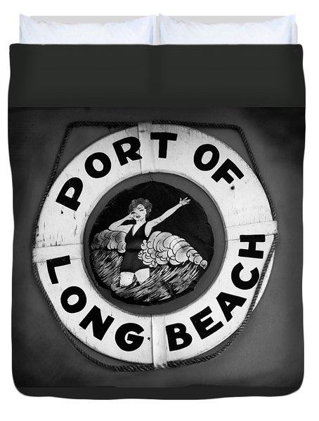 Port Of Long Beach Life Saver By Denise Dube Duvet Cover