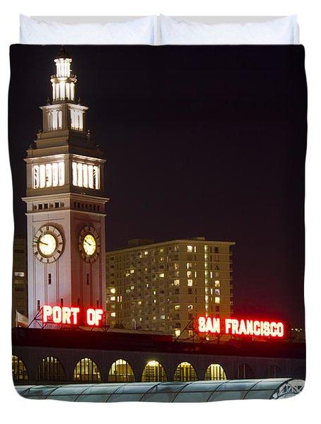 Port Of San Francisco Duvet Cover