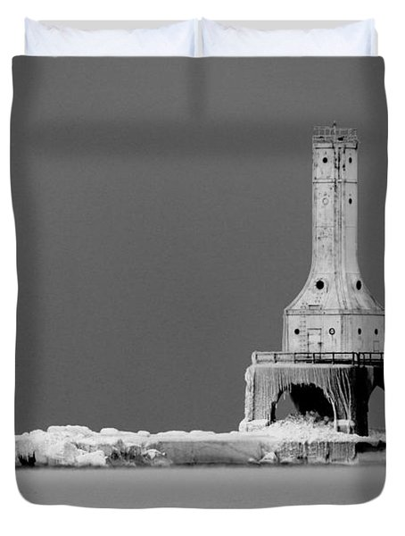 Port Washington Harbor Duvet Cover