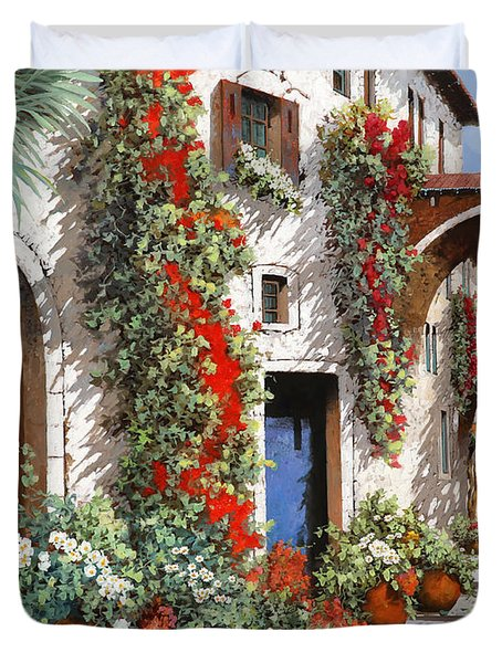 Porta Rossa Porta Blu Duvet Cover
