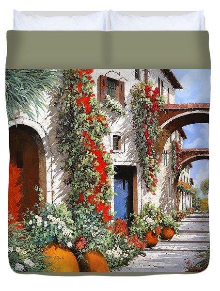 Porta Rossa Porta Blu Duvet Cover by Guido Borelli