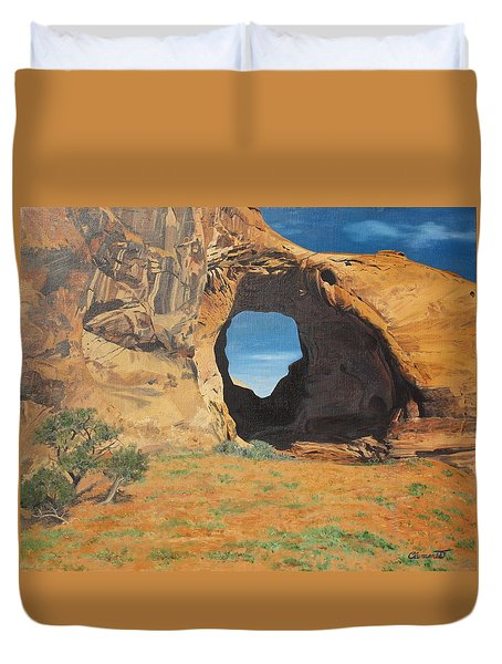 Portal At Window Rock  Duvet Cover