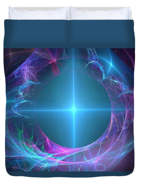 Portal To The Unknown Duvet Cover by Svetlana Nikolova