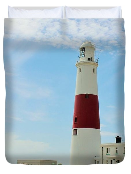 Portland Bill Lighthouse Duvet Cover