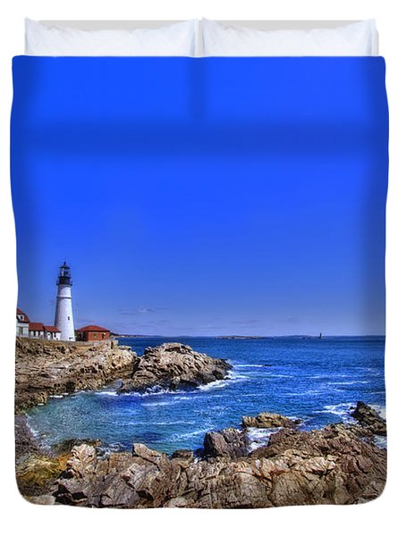Portland Head Light 4 Duvet Cover by Joann Vitali