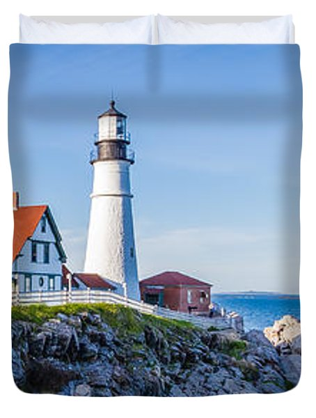 Portland Head Light House Cape Elizabeth Maine Duvet Cover