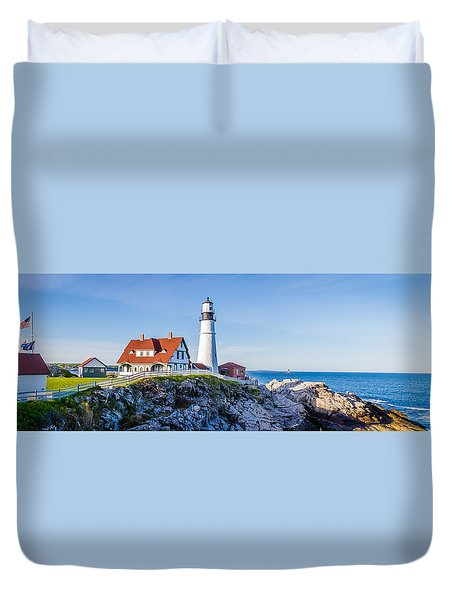 Portland Head Light House Cape Elizabeth Maine Duvet Cover