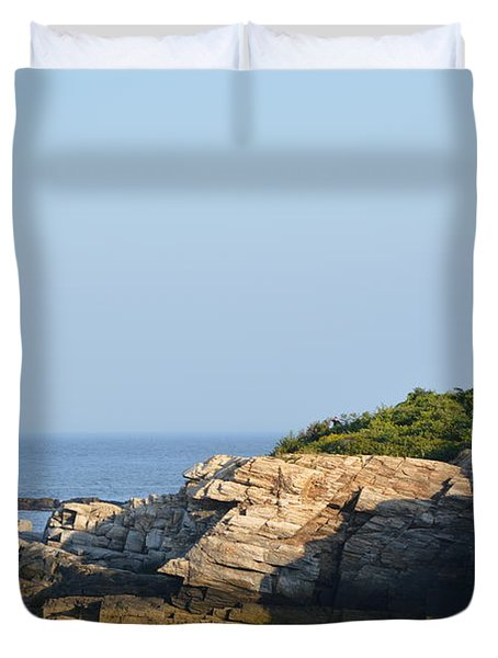 Portland Head Light In Summer Duvet Cover