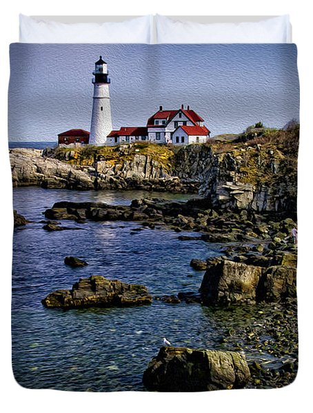 Portland Headlight 37 Oil Duvet Cover