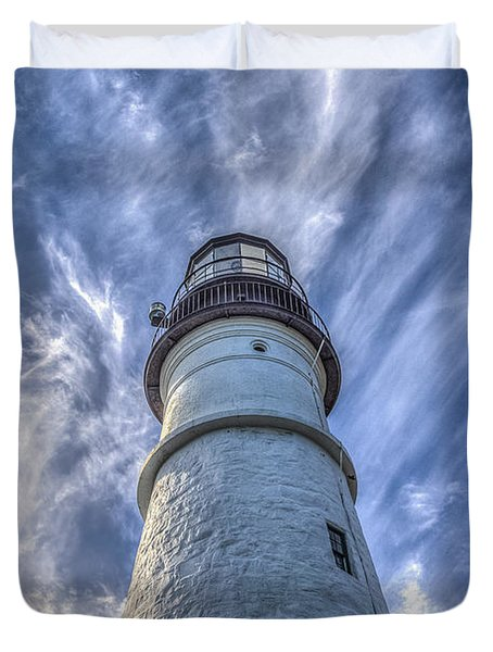 Portland Headlight Duvet Cover by Jane Luxton
