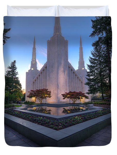 Portland Temple Duvet Cover