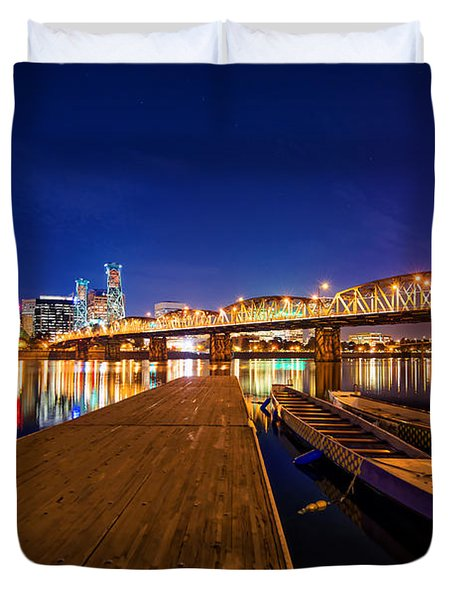 Portland Under The Stars Duvet Cover