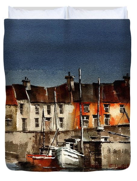 Kerry... Portmagee Harbour Duvet Cover