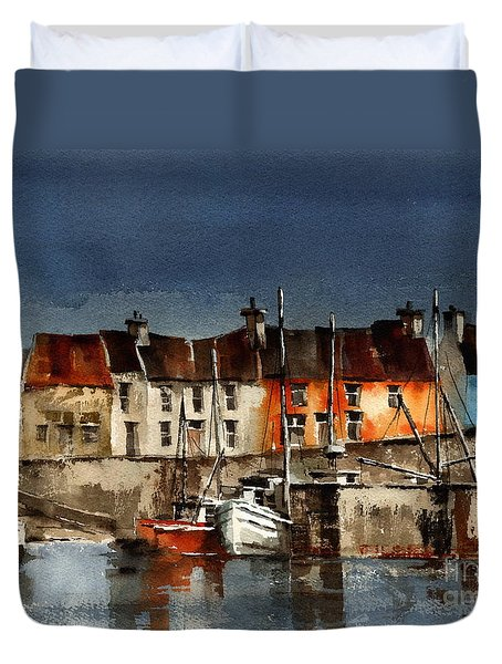 Kerry... Portmagee Harbour Duvet Cover