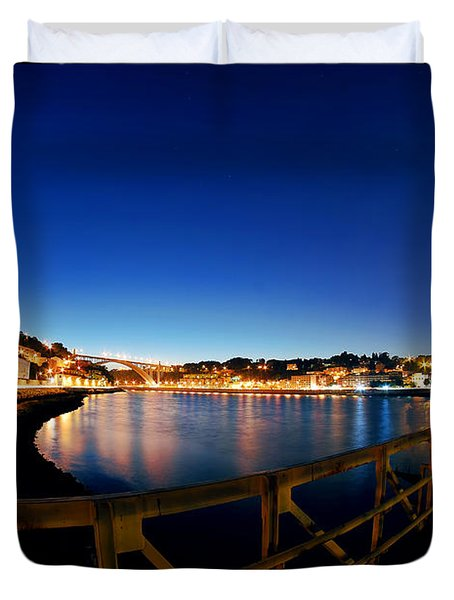 Porto By Night. Duvet Cover