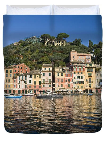 Duvet Cover featuring the photograph Portofino by Antonio Scarpi