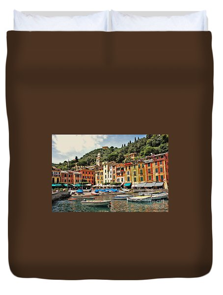 Portofino Harbor 2 Duvet Cover